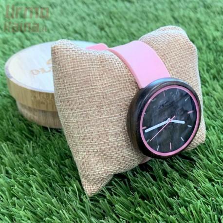 Medinis laikrodis OldWood WL76 Pink