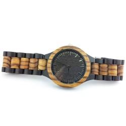 Medinis laikrodis Zebra Wood
