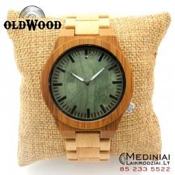 Medinis laikrodis Green Wood Bamboo